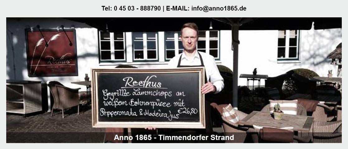 Restaurant für Stockelsdorf - Anno 1865: Burger, Betriebsfeier, Deutsche Küche,