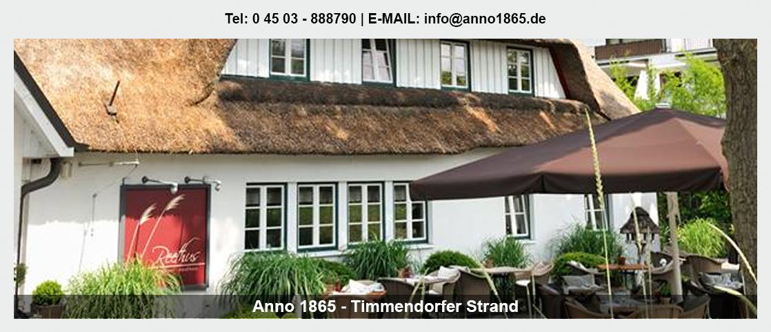 Restaurant in Niendorf - Anno 1865: Fischrestaurant, Steakhouse, Burger,