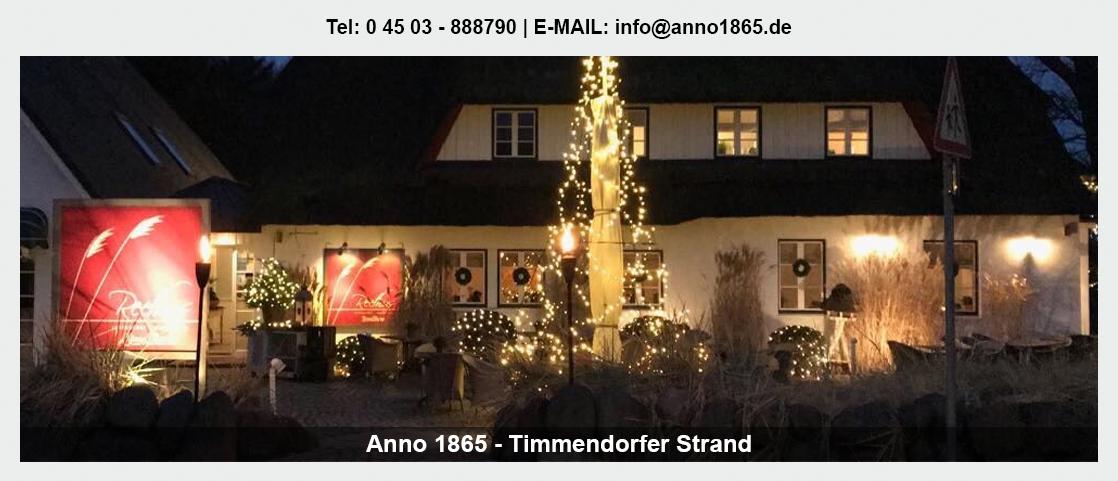 Restaurant Sierksdorf - Anno 1865: Betriebsfeier, Hochzeitslocation, Steakhaus,